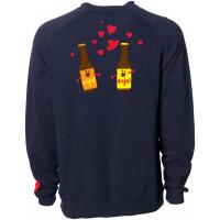 Enjoi Smitten Beer Crew Navy Hearher