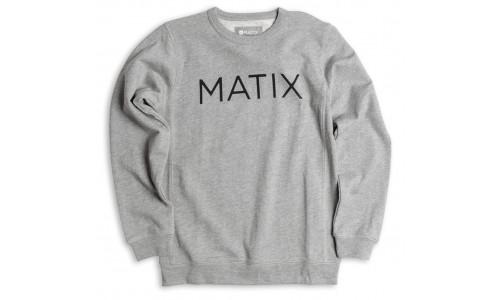 Matix Monoset Crew Fleece Gry