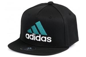 Adidas Flat Cap BlackGrnWht
