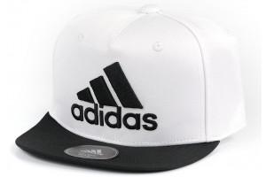 Adidas Flat Cap White Black