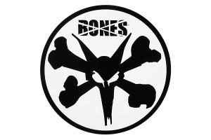 BONES WHEELS 6 Rat Sticker Wht LRG