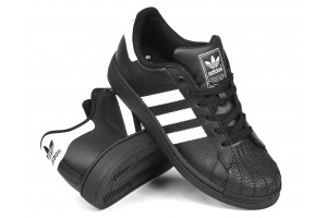 Adidas SuperStar BlkBlkW Leather