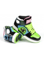 DVS Aces High Girl Black Lime Action Leather