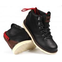 DVS Yodeler Snow Black Brown Leather