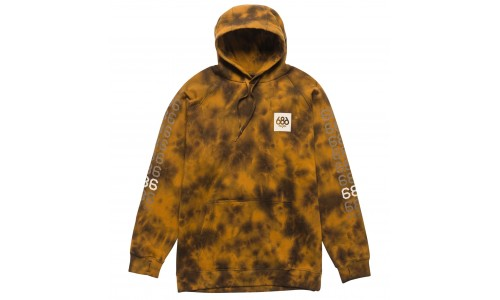 686 Digital Pullover Golden Brown Print