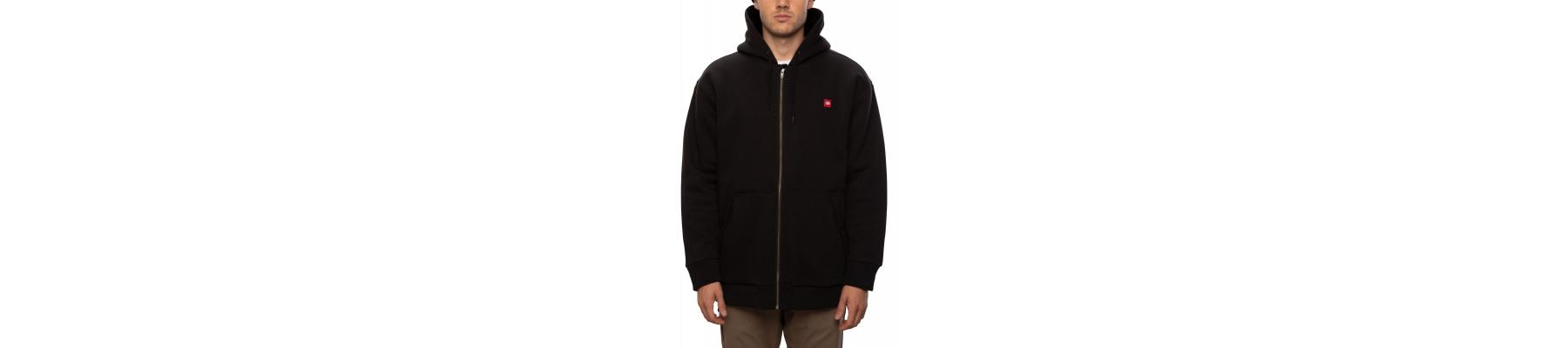 686 Sherpa Lined Hooded Sweatshirt black