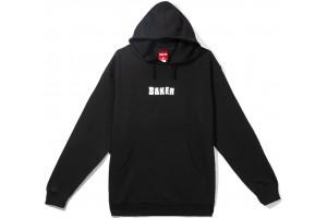 Baker brand logo hoodie new black