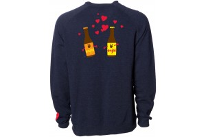 Enjoi Smitten Beer Crew Navy Hearher