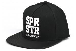 Adidas Flat SPR STR  BlackWhite