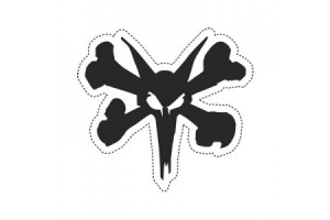 "Bones Rat Die Cut 5"" Sticker"