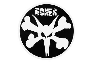 BONES WHEELS 6 Rat Sticker Blk LRG