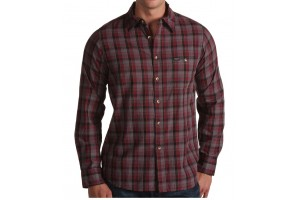 BRIXTON Capo BURGUNDY Plaid