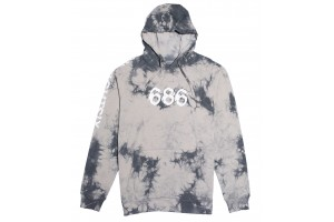 686 All Day Pullover Grey Tie Dye