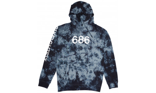 686 ALL DAY PULLOVER navy TIE DYE