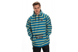 686 x Hundreds Waterproof Hoody Strata Blue Stripe 10K/10K