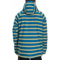 686 x Hundreds Waterproof Hoody Strata Blue Stripe 10K/10K