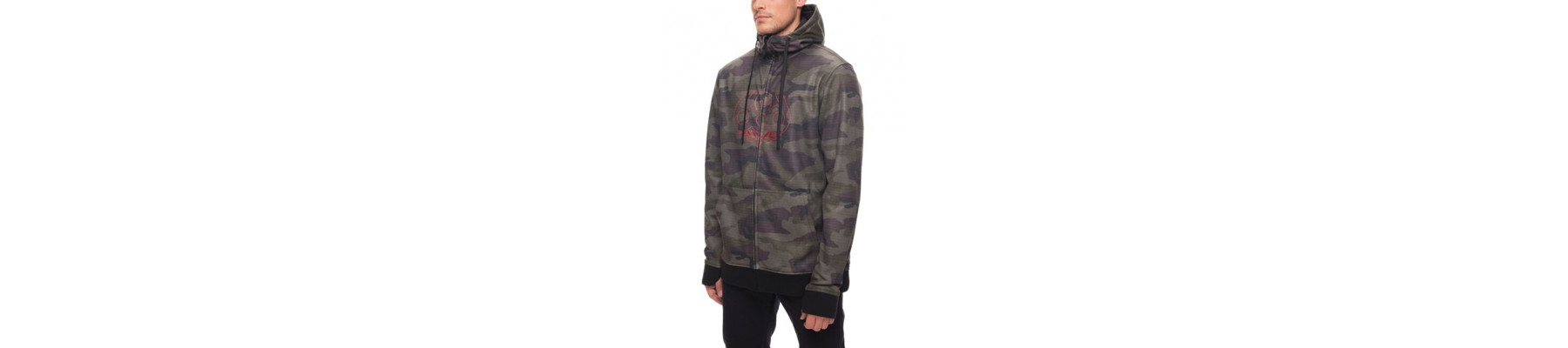 686 Icon Zip Bonded Fleece Hoody Faticue camo DRW