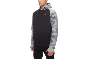 686 Knockout Bonded Fleece Hoody Grey Camo DRW