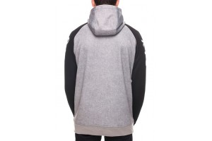 686 Knockout Bonded Fleece Hoody Grey Stripe DRW