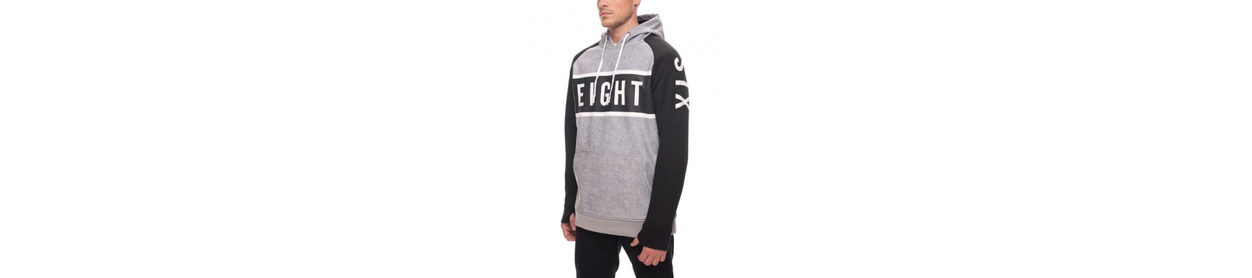 686 Knockout Bonded Fleece Hoody Grey Stripe DRW