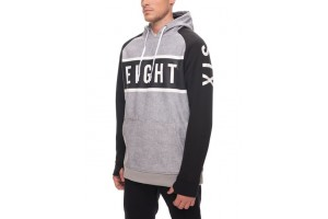 686 Knockout Bonded Fleece Hoody Grey Stripe DRW/-7'C