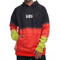 686 Knockout Bonded Fleece Pullover Black Dip Dye DRW