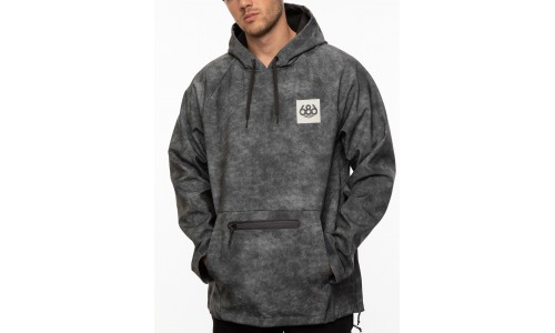 686 Waterproof Hoody Grey wash 10K/10K