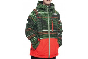 686 Youth Jinx  Insulated Jacket Camp Green Stripes 10K/10K/-18C