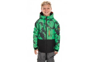 686 Youth Jinx Insulated Hex Green Dazed Colorblock 10K/10K/-18C