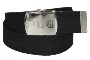 BAKER LOGO BLACK WEB BELT