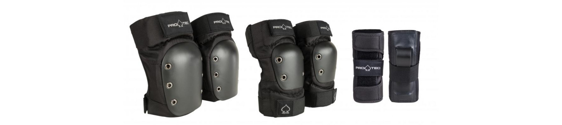 Pro-Tec Street Gear Junior 3-Pack Pad Set Black