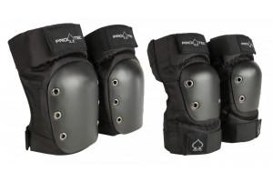 Pro-Tec Pads Knee/Elbow Pad Set Black