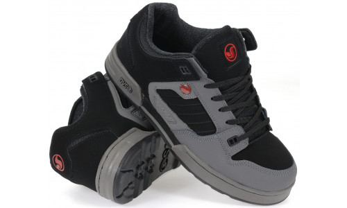 DVS MILITIA SNOW CHARCOAL BLACK RED NUBUCK