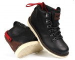 DVS Yodeler Snow Black Brown Leather