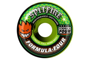 Spitfire F4 Conical full Neon Green Black Swirl 99A 55mm